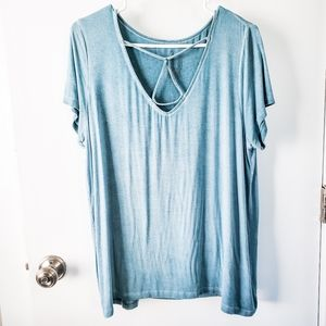 AEO Soft & Sexy Faded Green/Blue Strappy Soft Tee